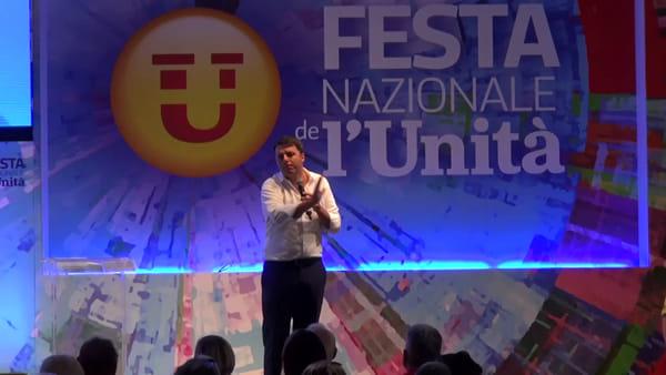 """Renzi duro contro la Lega alla Festa dell'Unità: """"Avete attaccato il Matteo sbagliato"""""""