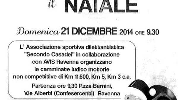 """""""Corriamo il Natale"""": tornano a Ravenna le camminate ludico motorie"""