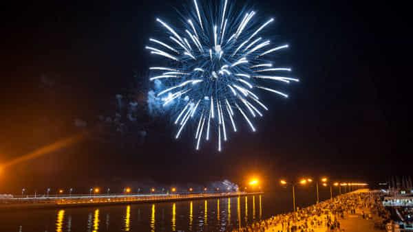 Fuochi d'artificio spettacolari per la festa di Sant'Apollinare