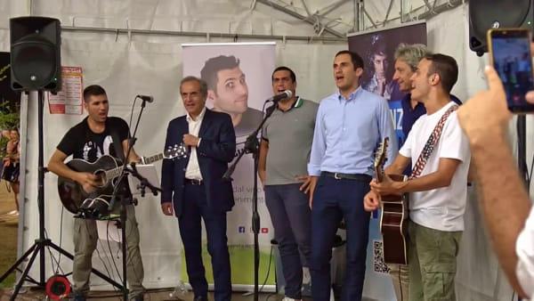 I sindaci intonano tutti insieme l'inno della nostra terra, 'Romagna Mia' - VIDEO