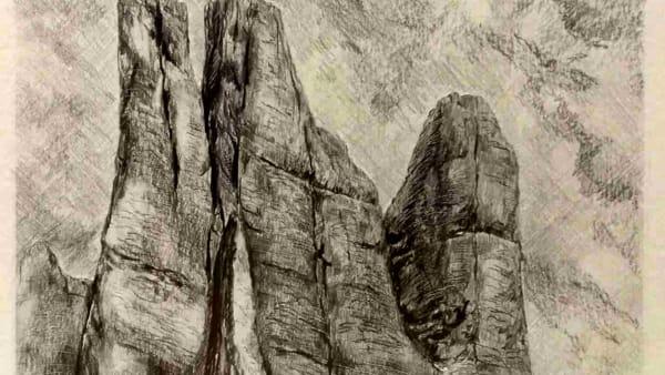 """I disegni di Luigi dal Re: """"La montagna sotto le dita"""""""