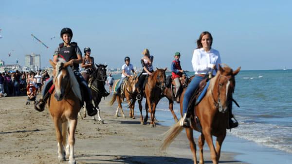 A cavallo in spiaggia, appuntamento nel fine settimana a Cervia