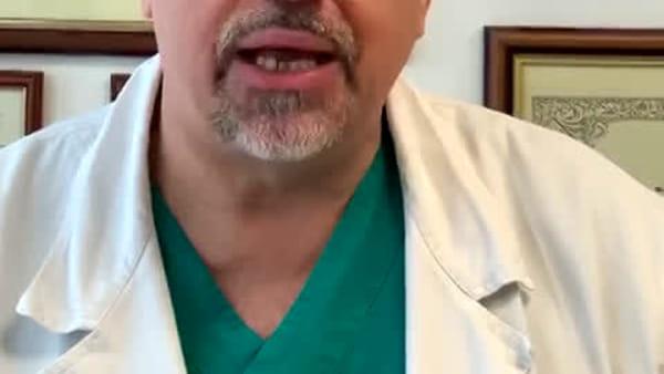 """Il Presidente dell'Ordine dei medici: """"Evitate le passeggiate, uscite solo se indispensabile"""" - VIDEO"""
