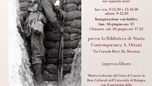 """Una mostra sugli """"Sguardi sulla Grande Guerra"""""""
