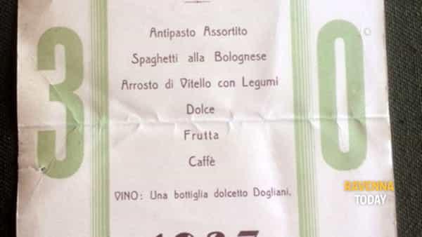"""mostra di menù """"l'italia a tavola. fra classico e decò dall'architettura alla cucina futurista"""" salone dei mosaici 23 maggio 10 giugno 2018 martedì-domenica ore 15.30-22.30-3"""