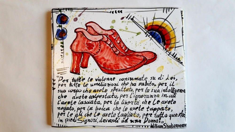 scarpette rosse in ceramica per dire no alla violenza sulle donne eventi a ravenna scarpette rosse in ceramica per dire no