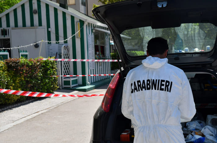 Sopralluogo a Lido Adriano sul luogo dell'omicidio (foto M.Argnani)
