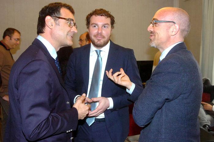 Elezioni, una triplice alleanza per Alberghini (foto Argnani)