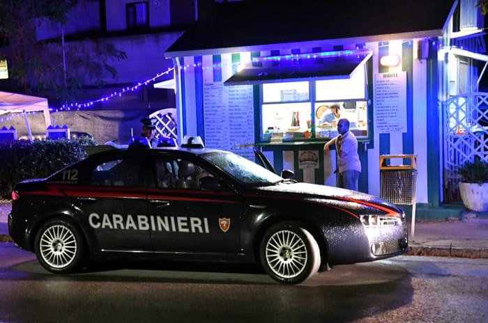 Omicidio in piadineria (foto Massimo Argnani)