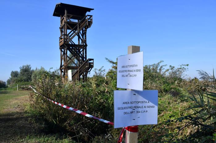 Zone sotto sequestro in Valle della Canna (foto Massimo Argnani)